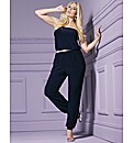 Bandeau Tapered Leg Jumpsuit