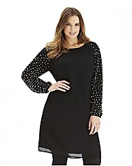 Beaded Raglan Sleeve Dress