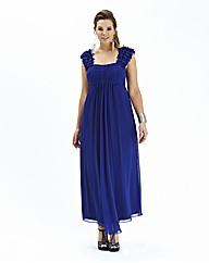 Petal Trim Maxi Dress