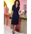 Ruched Sleeve Velour Dress