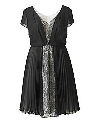 Lace And Pleat Dress