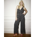 Spot Print Palazzo Jumpsuit