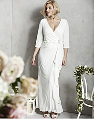 Wrap Front Wedding Dress