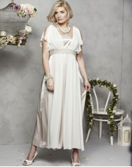 Angel Sleeve Wedding Dress