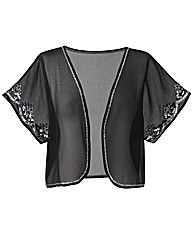 Beaded Short Sleeve Shrug