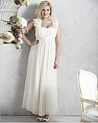 Petal Trim Wedding Dress
