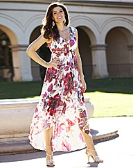 Floral High Low Hem Maxi Dress