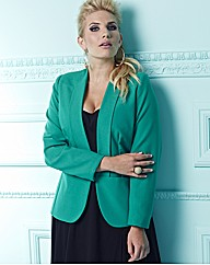 Collarless Lined Blazer
