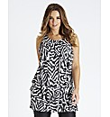 Zebra Print Ruffle Tunic