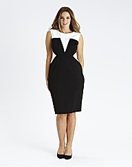 Monochrome Illusion Dress