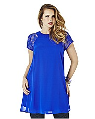 Swing Tunic With Lace Sleeve Insert