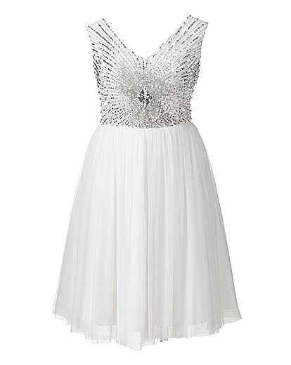 Short Embellished Prom Dress