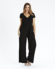 Wide Leg V Neck Jumpsuit