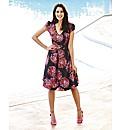 Flower Print Prom Dress