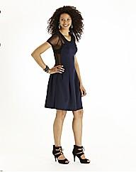 lllusion Skater Dress