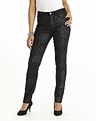 Lace Print Skinny Jeans