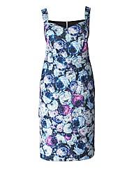 Rose Print Shift Dress