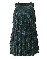 Lace Print Ruffle Tunic