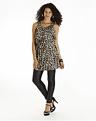 Animal Print Ruffle Tunic