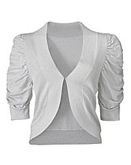 Short Sleeve Shrug Cardigan - Silver