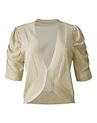 Short Sleeve Shrug Cardigan - Gold
