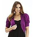 Short Sleeve Shrug Cardigan - Magenta
