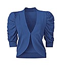 Short Sleeve Shrug Cardigan - Cobalt