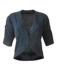 Short Sleeve Shrug Cardigan - Teal