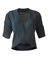 Short Sleeve Shrug Cardigan - Teal