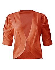 Short Sleeve Shrug Cardigan - Orange