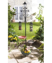 Weathervane Bird Feeder & Hanging Basket