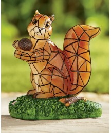 Decorative Solar Light Red Squirrel