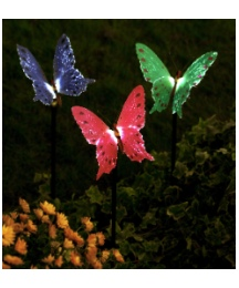 Set of 3 Solar Fibre Optic Butterflies