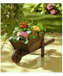 Wood Wheelbarrow Planter