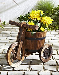 Wood Tricycle Planter