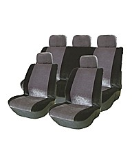 Grey/Black Seat Cover Set