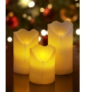 Set of 3 Remote Control Candles