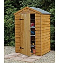 Wooden Overlap Shed 4x3