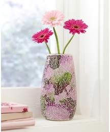 Decorative Solar Mosaic Vase