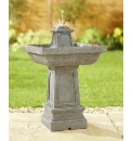 Square Solar Rock Fountain