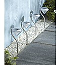 Set of 4 Diamond Solar Lights