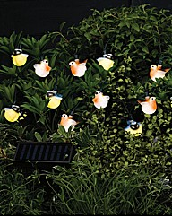 Set of 16 Robin and Blue Tit Bird Lights
