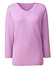 V Neck 3/4 Sleeve Sweater