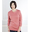 V Neck 3/4 Sleeve Sweater