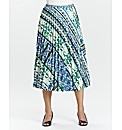 Sunray Printed Pleat Skirt L27inch