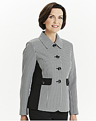 Slimma Houndstooth Check Jacket