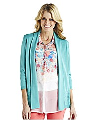 Edge To Edge Cardigan With Pointelle
