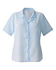 Short Sleeve Crinkle Blouse