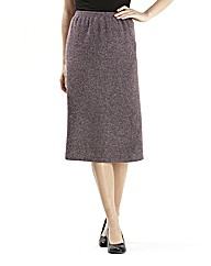 Lined A line tweed skirt L25inch