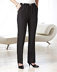 Pinstripe Trousers With Belt Length 27